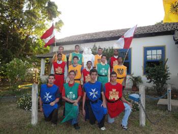 Jovens no acampamento de carnaval promovido pela ADF e a Ação Jovem Pela Terra de Santa Cruz