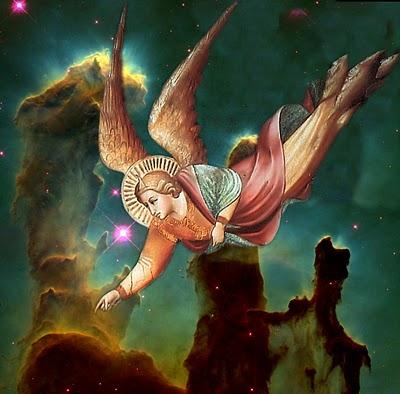 Pilares da Criacao, anjo de 'O sonho de Heraclio' de Agnolo Gaddi