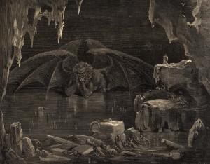 Lúcifer: o eterno fracassado. Gravura de Gustave Doré.