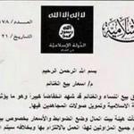 Documento do grupo terrorista revela tabela de valores de mulheres cristãs vendidas como escravas