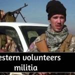 Foto de milicianos voluntários do ocidente para lutar contra o Estado Islâmico; muitos foram em defesa da Fé e da Verdade, em nome de Nosso Senhor Jesus Cristo.