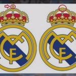 Bandeira do Real Madrid com, e sem, a Cruz.