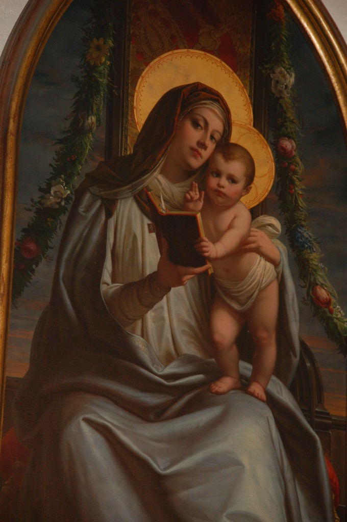 Virgem Santíssima com o Menino Jesus.