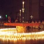 Velas acesas na Catedral de Los Angeles