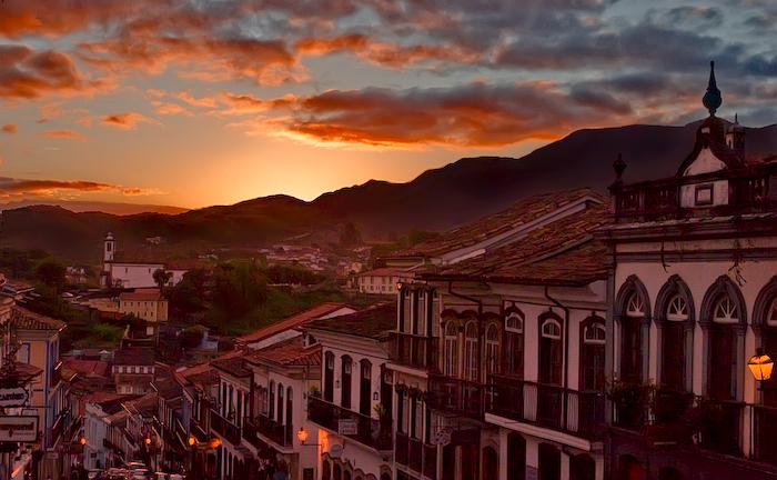 Uma visão privilegiada da cidade de Ouro Preto em MG