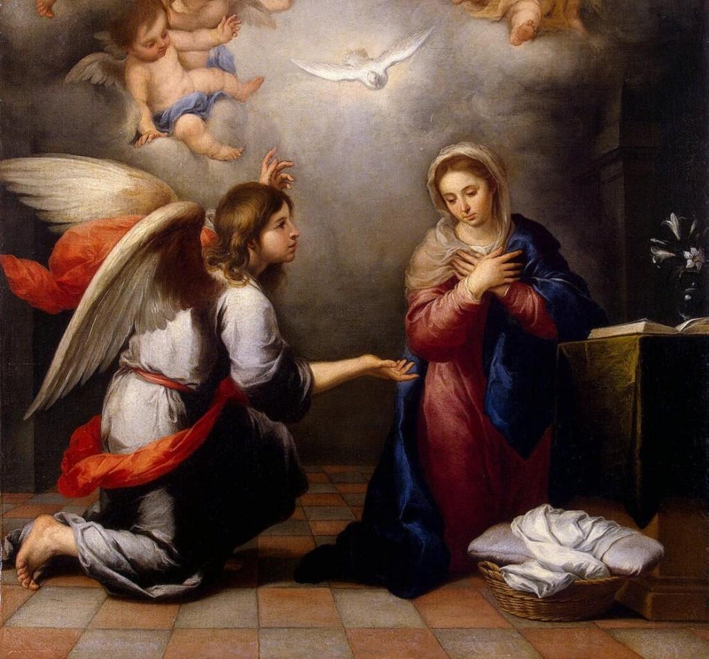 O Anjo anuncia a vinda do Cristo Salvador