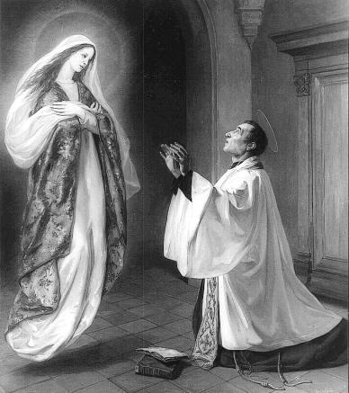 São Luís Maria Grignion de Montfort, visão de Nossa Senhora