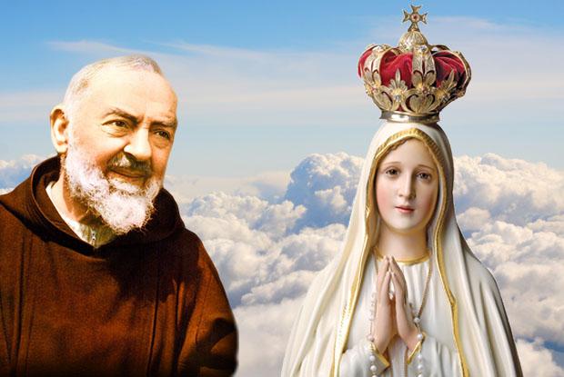 Padre Pio e Nossa Senhora de Fátima