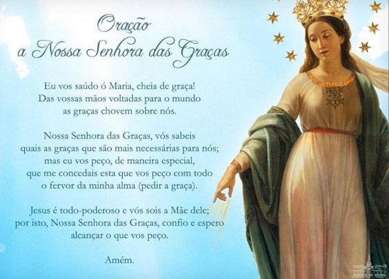 Oração - Nossa Senhora das Graças