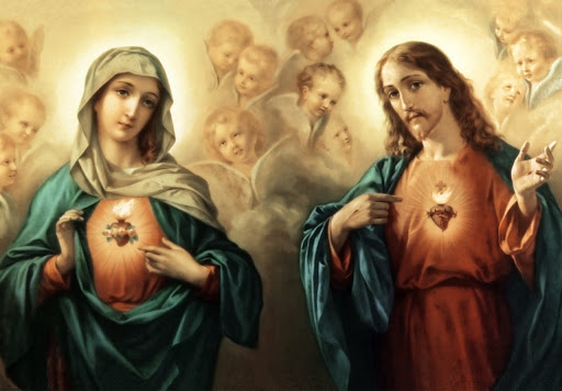 Imaculado Coração de Maria e Sagrado Coração de Jesus