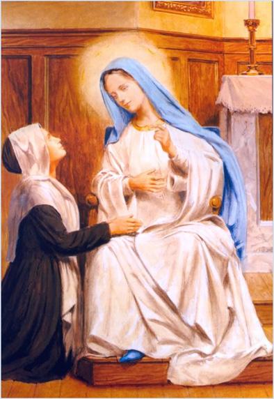 Santa-Catarina-Labouré e Nossa Senhora 1