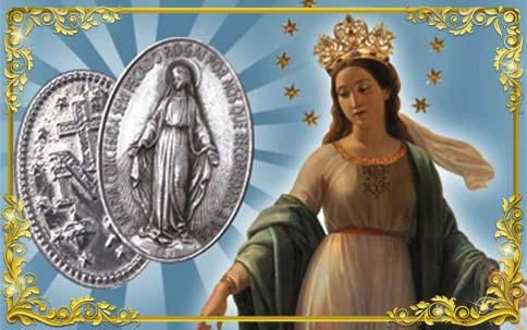 Nossa Senhora das Graças e Medalha 2 - Tamanho Menor