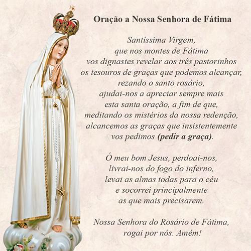 Oração a Nossa Senhora do Rosário de Fátima