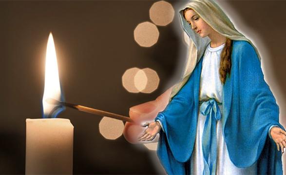 Vela e Nossa Senhora das Graças
