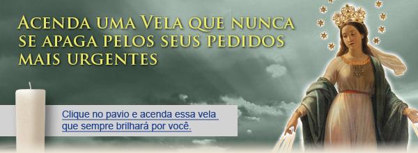 Vela da Medalha Milagrosa no texto sobre 1 Milhão de Ave Marias pelo Brasil - Participe desta corrente de orações!