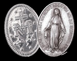 Medalha Milagrosa de Nossa Senhora das Graças no texto sobre Revelado o Remédio para Combater Epidemias