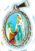 Medalha de Nossa Senhora de Lourdes no texto Oração de Nossa Senhora de Lourdes
