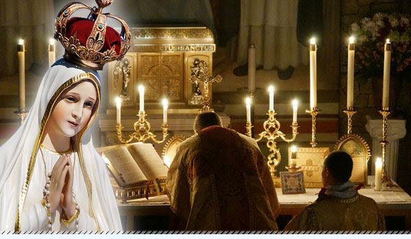 Nossa Senhora e o Altar da Santa Missa
