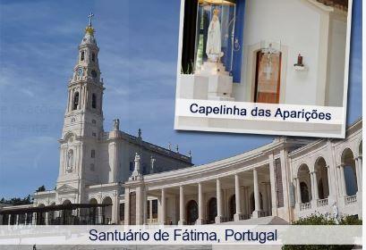 Imagem do Santuário de Nossa Senhora de Fátima, em Portugal