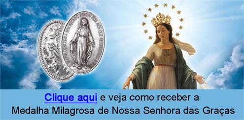 Medalha Milagrosa de Nossa Senhora das Graças no texto Missa de Nossa Senhora das Graças - Deixe aqui seus pedidos. É GRÁTIS!