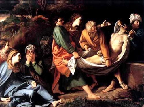 Sábado Santo - Jesus é colocado no Sepulcro