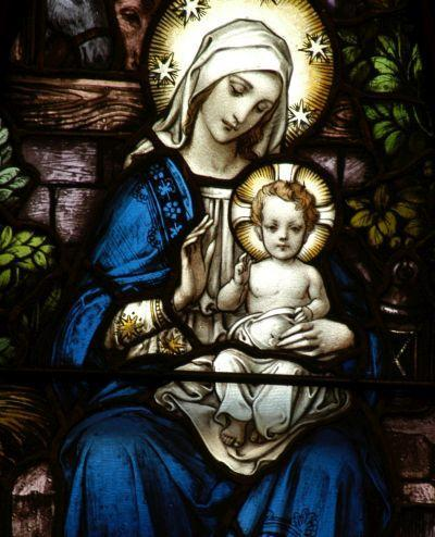 Santa Maria, Mãe de Deus no texto Oração: A Maria, Mãe de Misericórdia