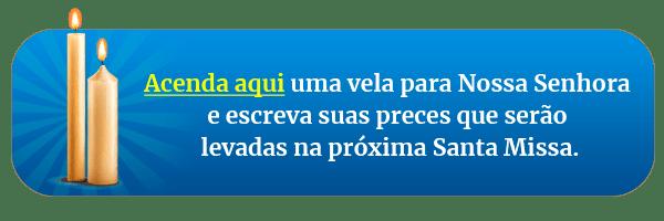Botão da Vela de Nossa Senhora no texto Hino de Nossa Senhora de Fátima - Ave de Fátima (Treze de Maio)