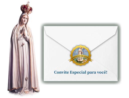 Botão - Apóstolos de Fátima no texto Novena a Nossa Senhora de Fátima – 3º Dia