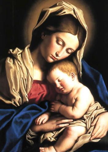 Maria Santíssima e o Menino Jesus no texto Dia das Mães: Oração à Maria, a mais terna das Mães
