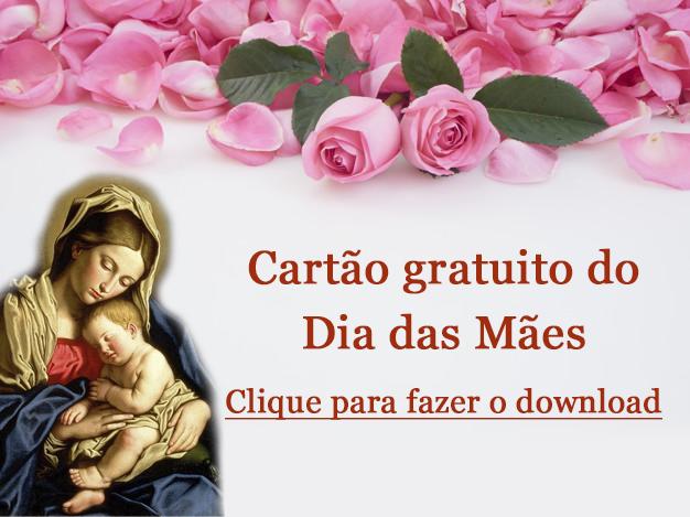Cartão católico dia das Mães